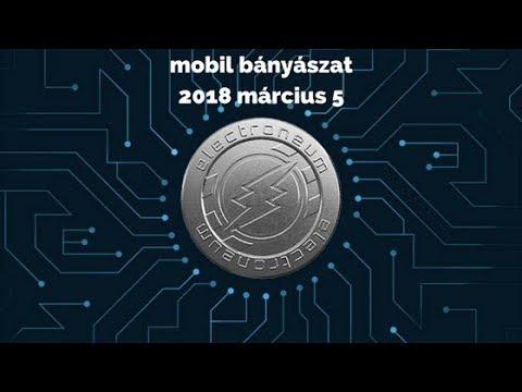 mobil bitcoin bányászat