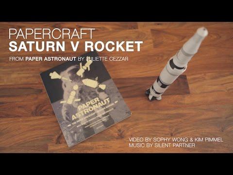 Papercraft Saturn V Rocket Build