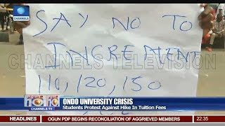 Ondo University Students Protest Hike In Tuition Fees