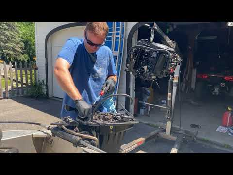 How To Replace Midsection Oil Pan On Mercury Outboard