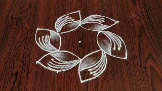 very Easy Rangoli designs (5×3) dot's..