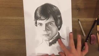 Luke Skywalker Speed Drawing