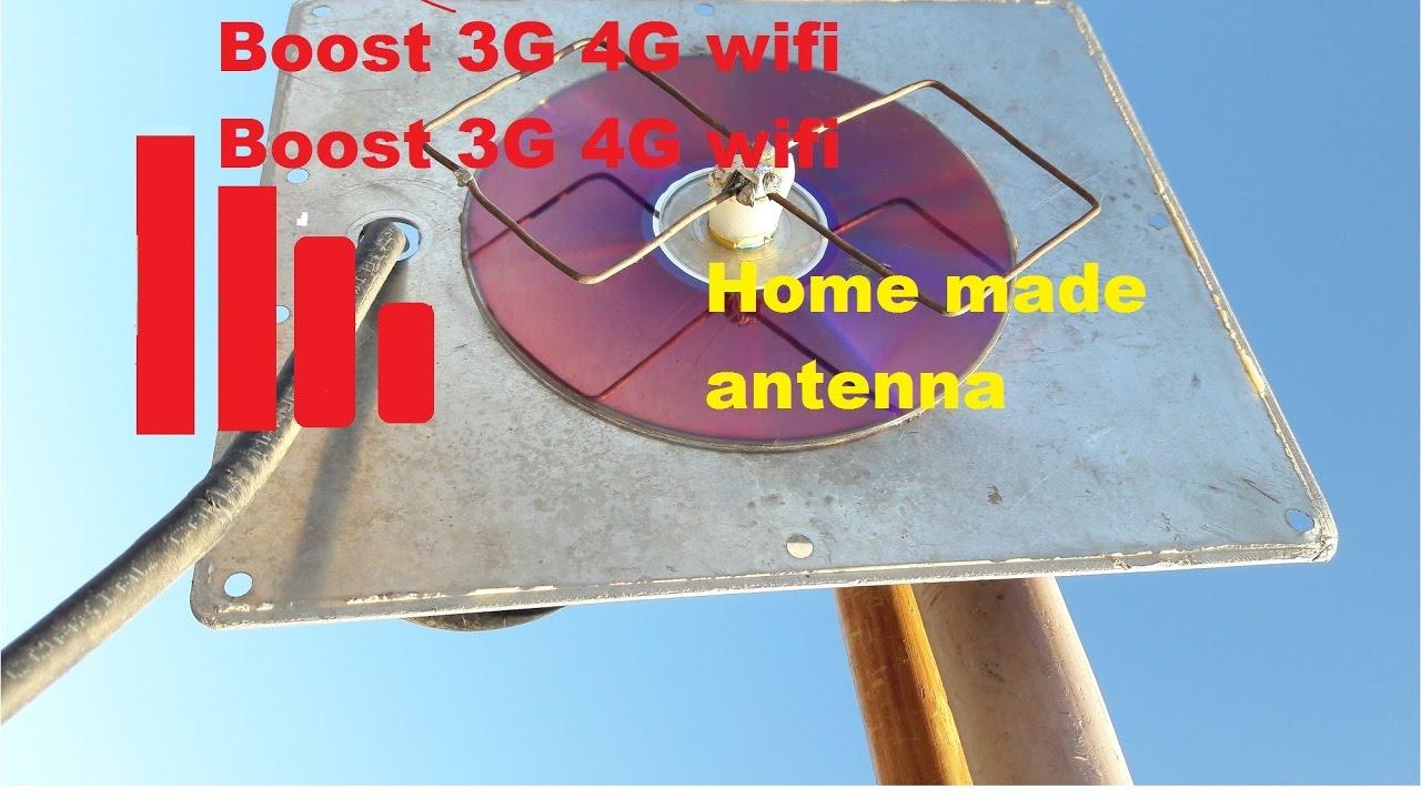 Wifi 3g 4g Homemade Antenna Youtube