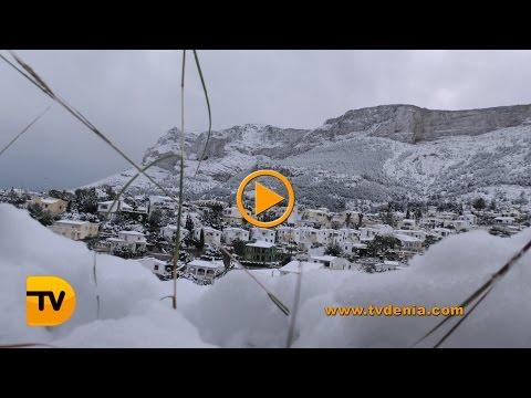 A la Comunitat Valenciana va caure neu com feia molt temps que no ho feia ...