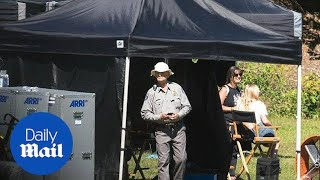 Bill Murray and Adam Driver on the set of upcoming horror movie - Daily Mail