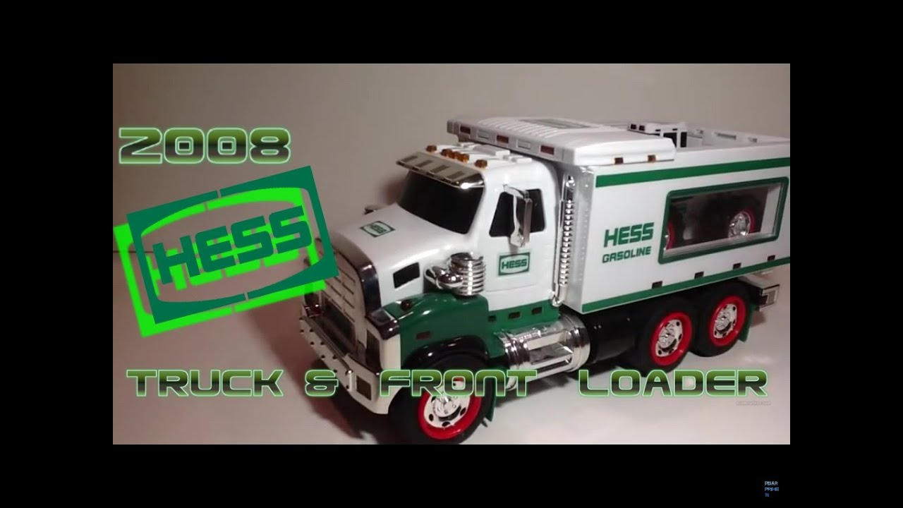 Video review of the hess toy truck 2008 hess toy truck and front loader