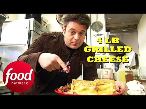 Adam Finds Out How Much Dairy His Body Can Take After Trying The 4 LB Grilled Cheese | Man V Food