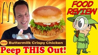 Mcdonald's® | Buttermilk Crispy Chicken Sandwich Review! Peep This Out!
