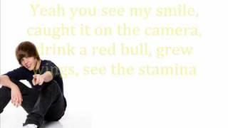 Justin Bieber Rap - Lyrics on screen