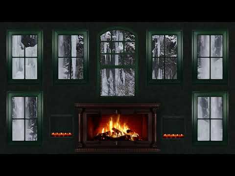 fireplace---snow,-candle,-winter,-romantic,-no-music,-christmas