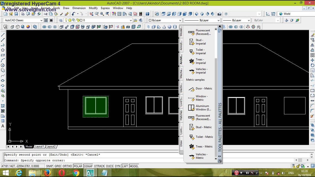 how to draw building plan elevation using autocad youtube