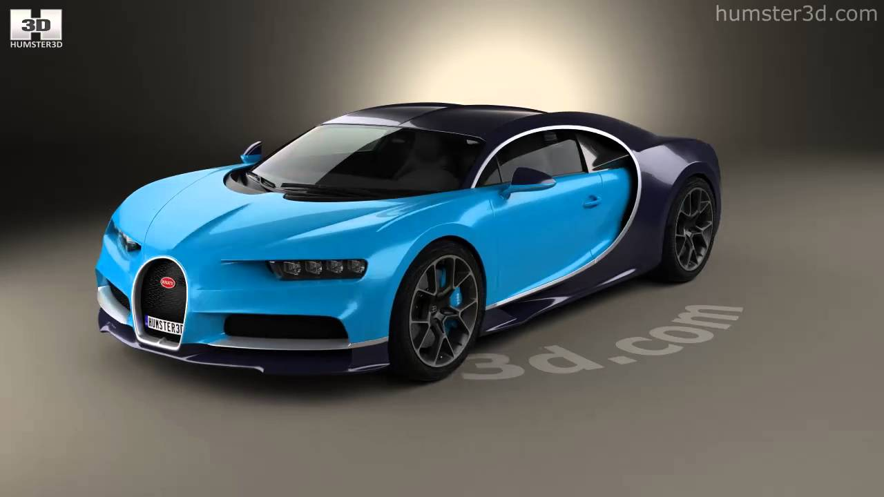bugatti chiron 2017 3d model by youtube. Black Bedroom Furniture Sets. Home Design Ideas