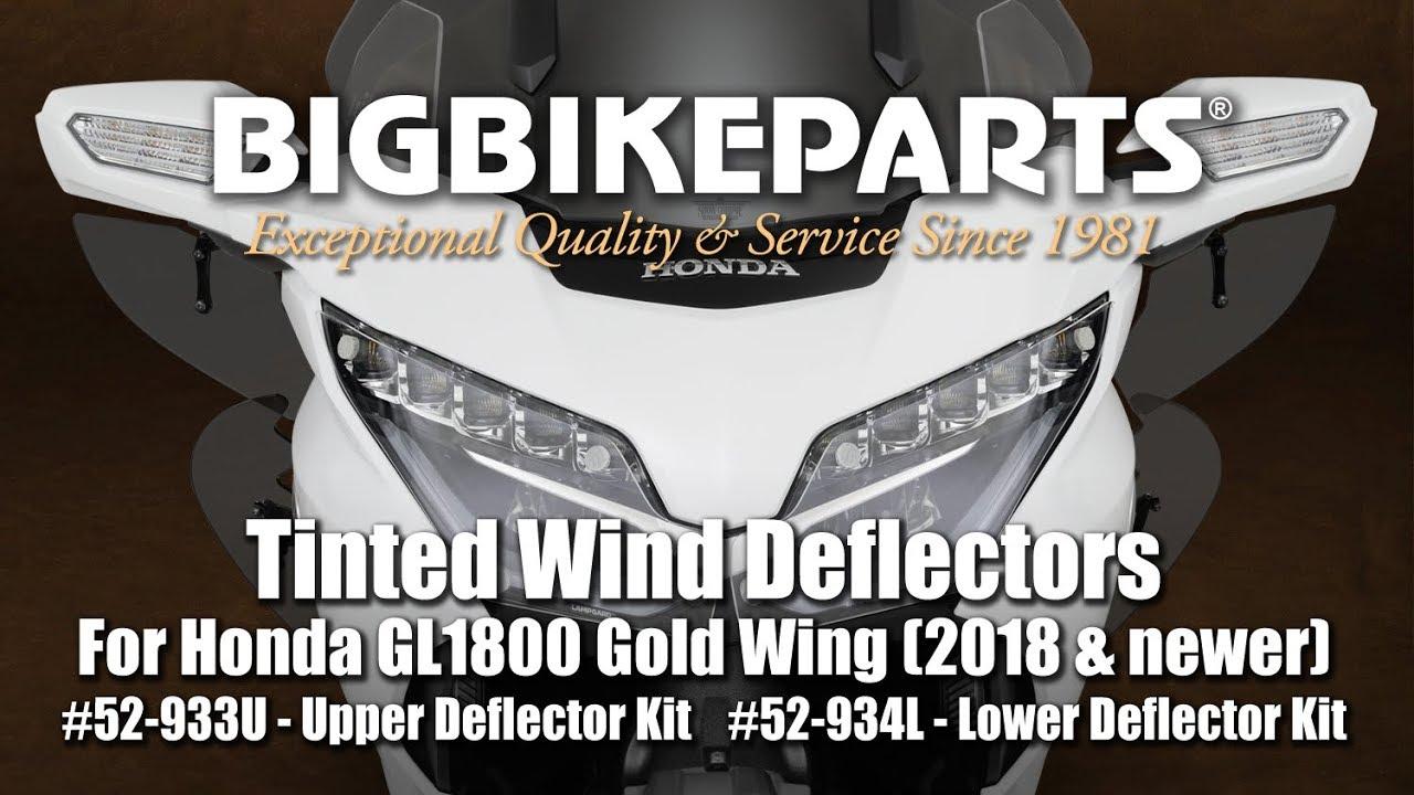 National Cycle Wing Deflectors Dark Smoke Fairing Mount for Honda GL1800