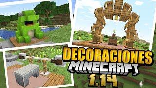 Minecraft 1.14 +20 DECORACIONES y TRUCOS de construcción