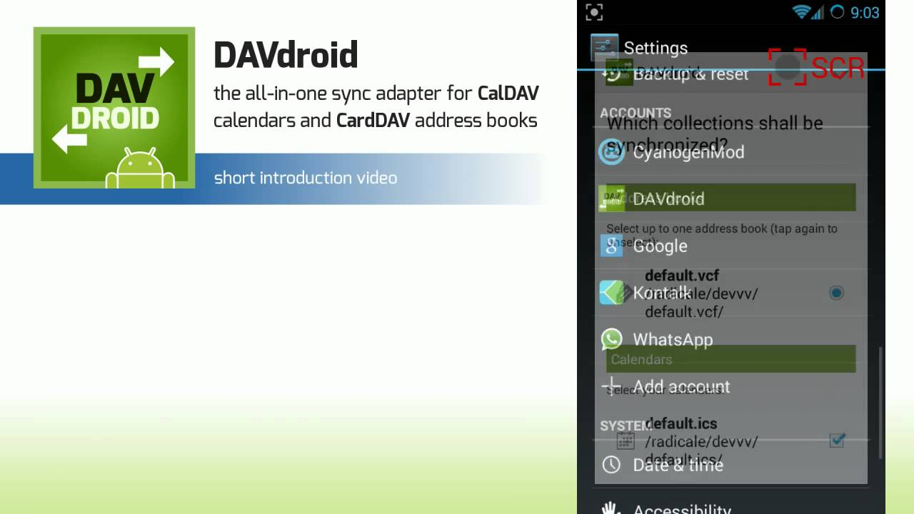 DAVdroid Android app -- Introduction