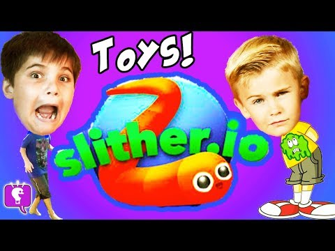 GIANT Surprises! Slither.io + Splatoon Toys and Video Game P