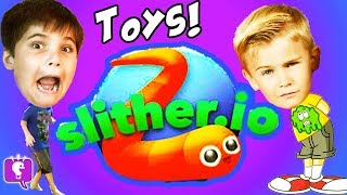 GIANT Surprises! Slither.io + Splatoon Toys and Video Game Play HobbyKidsGaming