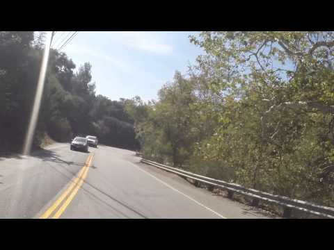 Driving in Topanga Canyon California HIlls and More HIlls