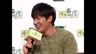 Lee Min Ho still keeps in touch w/ Park Shin Hye @ Tenwow Press Con 2014.09.03