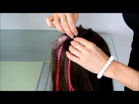 Removing micro bead from colour hair streak tutorial