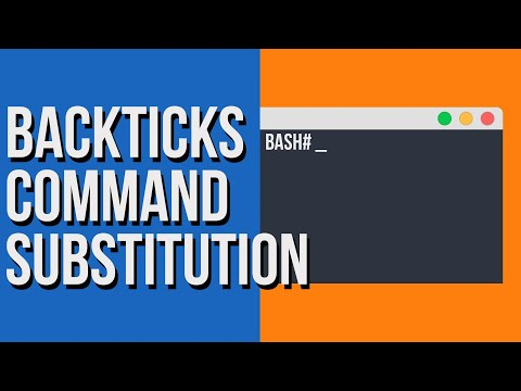 Command substitution in Linux using backticks