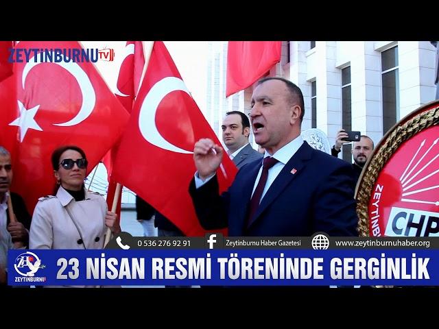 Zeytinburnu'nda 23 Nisan resmi töreninde gerginlik