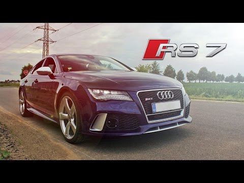 Audi RS7 Sportback - start up, revs, launch control, flyby, ride, acceleration...