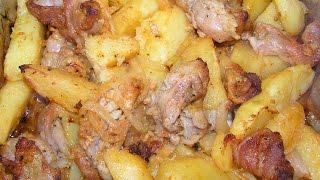 Картошка  с беконом  в  духовке  №135   Простое ,  экономное  блюдо.