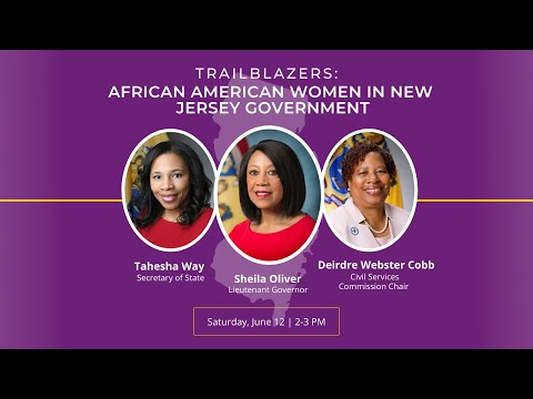 Trailblazers: African American Women in New Jersey Government