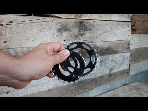 How To Make Throwing Stars - Shuriken From Bicycle Gears