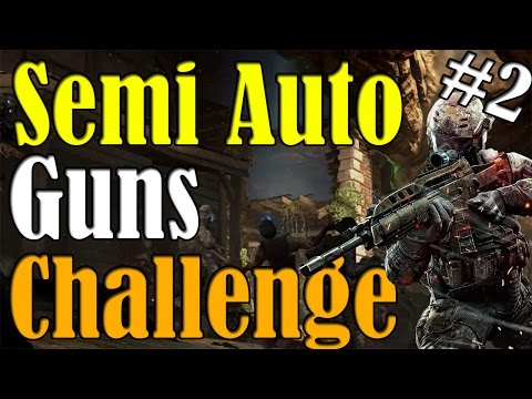 """Black Ops 2 Zombies"" ★SEMI AUTO GUNS ONLY CHALLENGE★ on Buried (Part 2)"