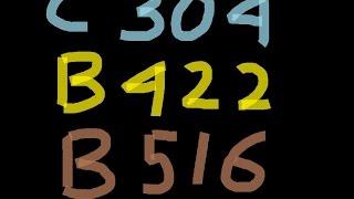 C304 B422 B516