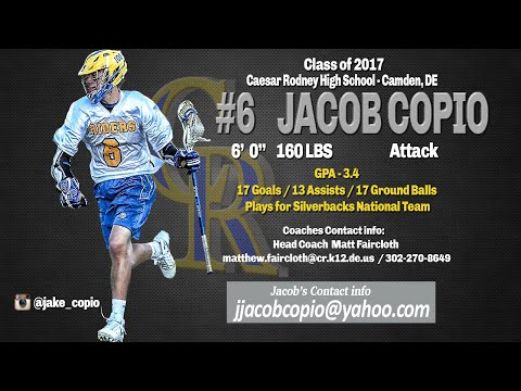 Jacob Copio 2016 Highlights, Caesar Rodney High school