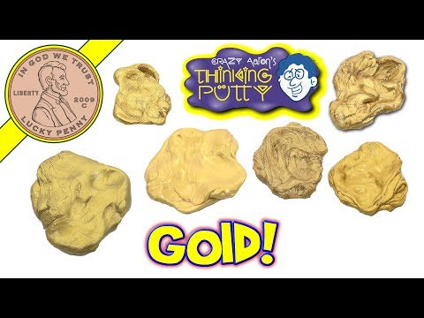 6 GOLD Crazy Aaron's Thinking Putty $15 Vs $250 Gold Putties! Gelt - Brilliant - Magnetic - Golden