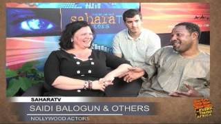 Saidi Balogun,Elizabeth Croydon and Kevin Barry on SaharaTV