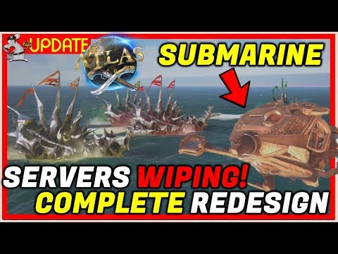 ATLAS Is Wiping Its Official Servers! Huge Update! PVP Changes! Submarines! Crabs!