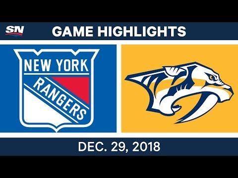 NHL Highlights | Rangers vs. Predators - Dec 29, 2018