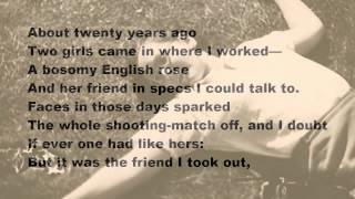 Wild Oats by Philip Larkin (read by Tom O