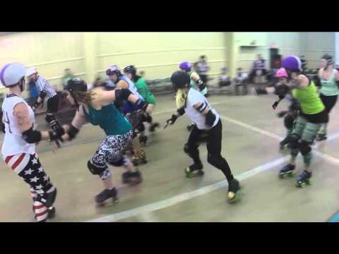 2016-03-05 BBSD Scrimmage: 3rd Bout Green vs White