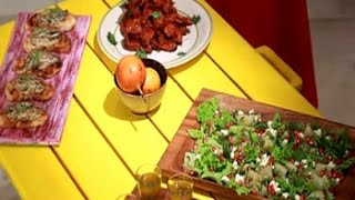 My Yellow Table: Try This Flavourful Version Of Chicken Wings And Shakarkandi Chaat