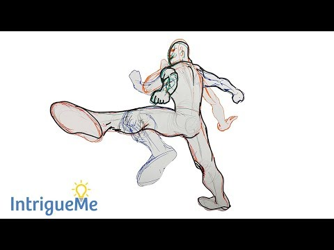 How to Draw an Action Pose Kicking | Easy Drawing Tutorial thumbnail