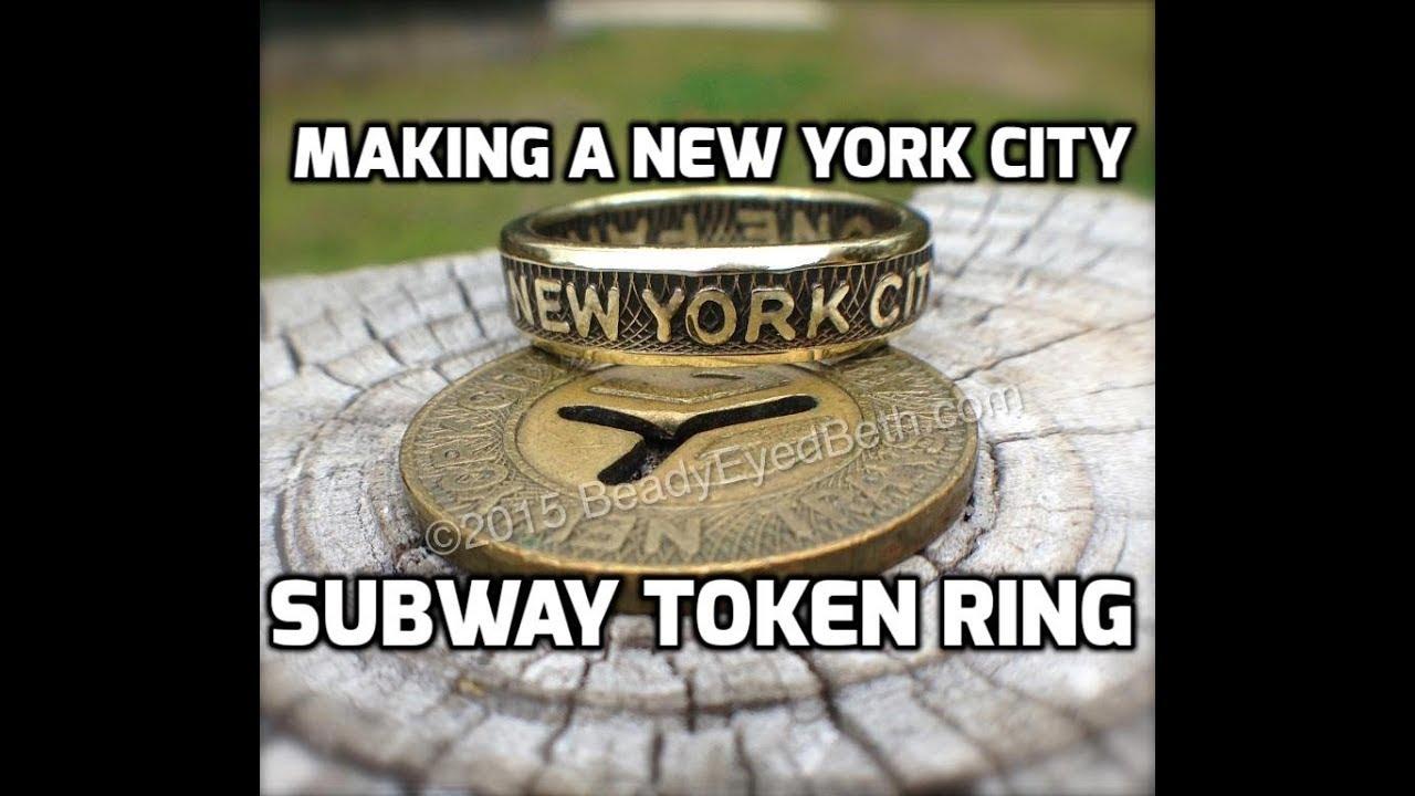 Making a New York City Subway Token Ring - NYC