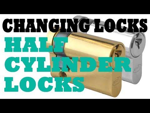 Changing Locks; Half Cylinder Locks