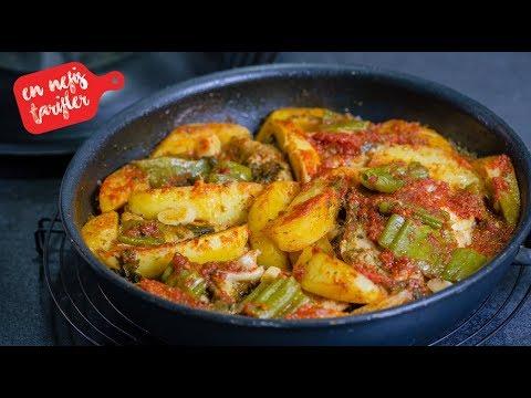 tavada patatesli tavuk yemeği tarifi  kolay ve ekonomik tavuklu yemek tarifi