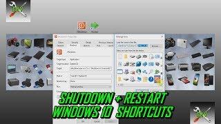 Create Shutdown & Restart Desktop Shortcuts Windows 10
