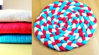 DIY : Bathmat II Smart way to recycle Old Towels -- DecornekDIY
