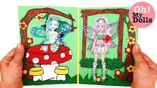 🧚‍♂️🧚‍♀️DIY Fairy Paper doll quiet book drawing and playing for kids  Dollhouse  Paper crafts