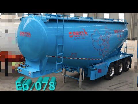 「P078」Bulk Cement Tank Semi-Trailer [ Bulk Cement Carrier ] for China Market (English)