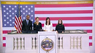 NYSE closing bell, Dow ends session 12.9% down as virus slams economy   AFP