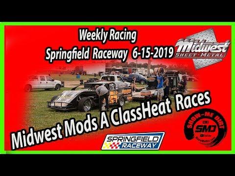 S03-E293 Midwest Mods A-Class Heat Races Springfield Raceway 6-15-2019 #DirtTrackRacing